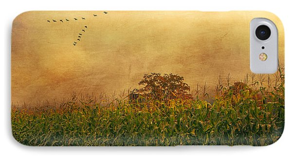 Cornfield And Fog IPhone Case