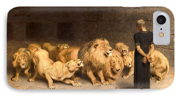 Dungeon iPhone 8 Case - Daniel In The Lions' Den by Briton Riviere
