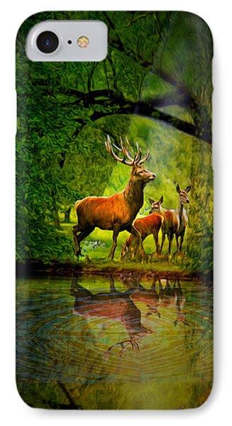 Deer Reflections IPhone Case