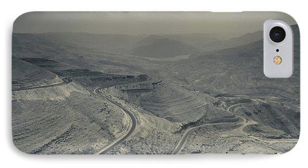 Desert Landscape With Highway, Wadi IPhone Case