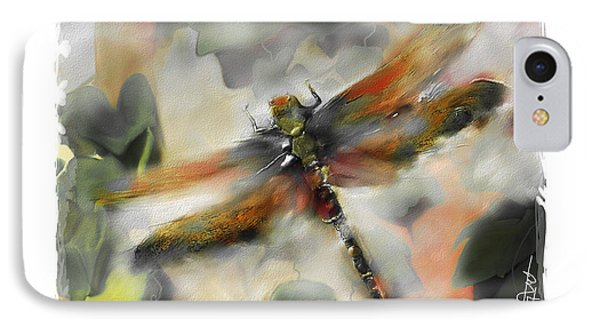 Impressionism iPhone 8 Case - Dragonfly Garden by Bob Salo