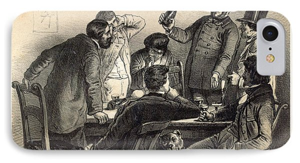 Drinking The Bottles In Germany, 19th Century Lithography IPhone Case
