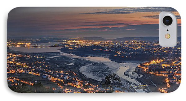 Ferrol's Ria Panorama From Mount Ancos Galicia Spain IPhone Case
