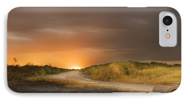 Fire On The Horizon IPhone Case