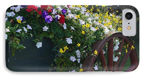 Flower Cart In Banff Town IPhone Case