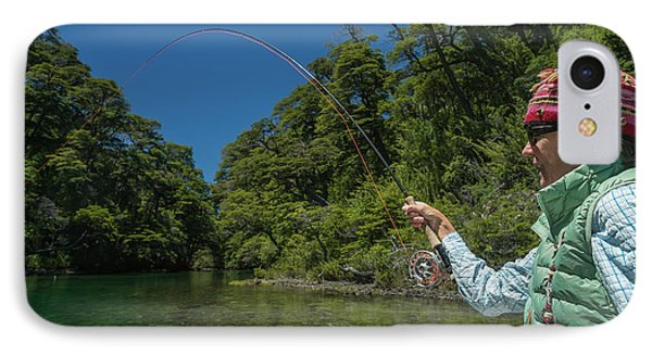 Knit Hat iPhone 8 Case - Fly Fishing Patagonia, Argentina by Mark Lance