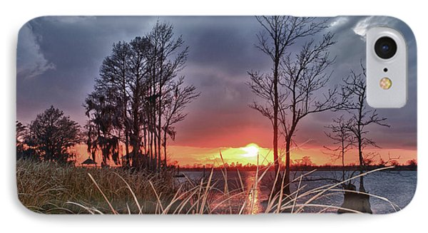 Grassy View Sunset IPhone Case