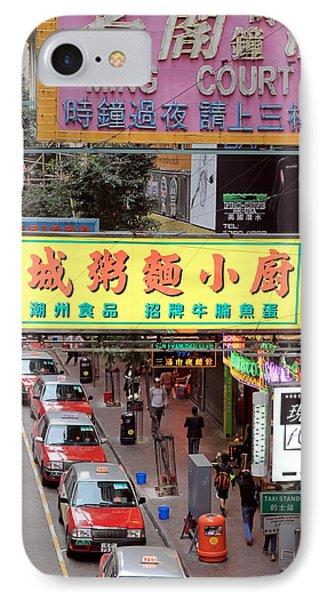 Hong Kong Downtown Street IPhone Case