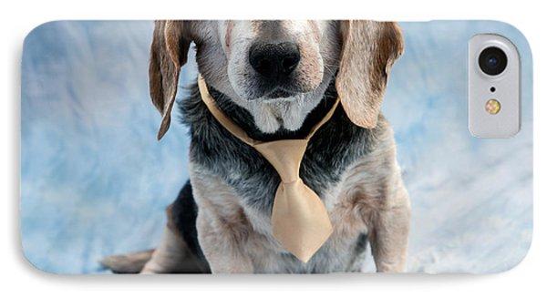 Puppies iPhone 8 Case - Kippy Beagle Senior by Iris Richardson