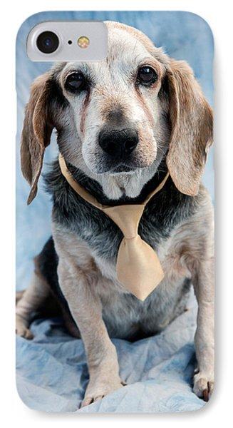 Dog iPhone 8 Case - Kippy Beagle Senior by Iris Richardson