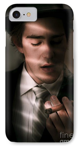 Male Private Eye Investigator Solves Puzzle IPhone Case