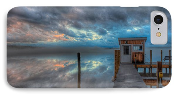 Melvin Village Marina In The Fog IPhone Case