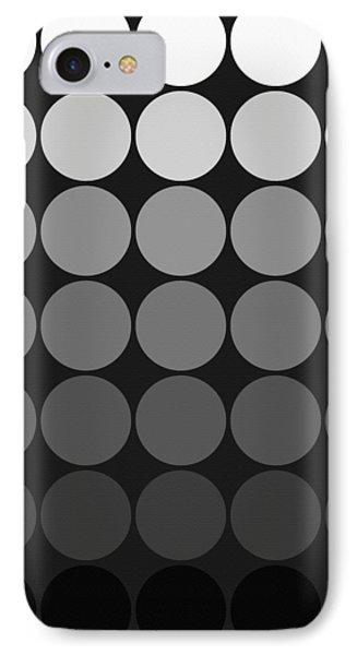 Mod Pop Gradient Circles Black And White IPhone Case