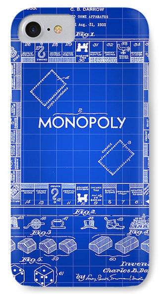 Monopoly Patent 1935 - Blue IPhone Case