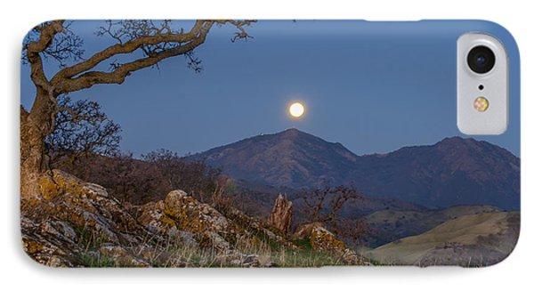 Moon Over Mt Diablo IPhone Case