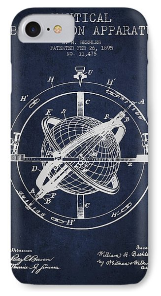 Nautical Observation Apparatus Patent From 1895 - Green IPhone Case