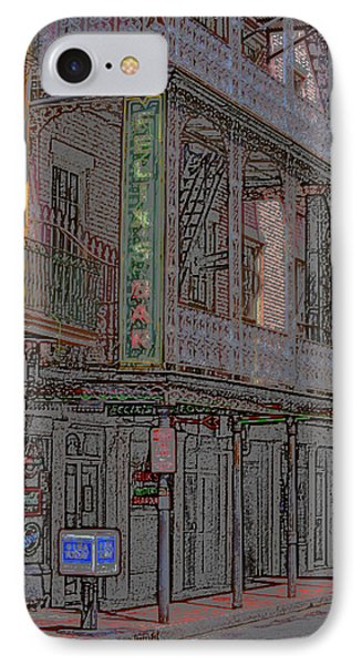 New Orleans - Bourbon Street With Pencil Effect IPhone Case