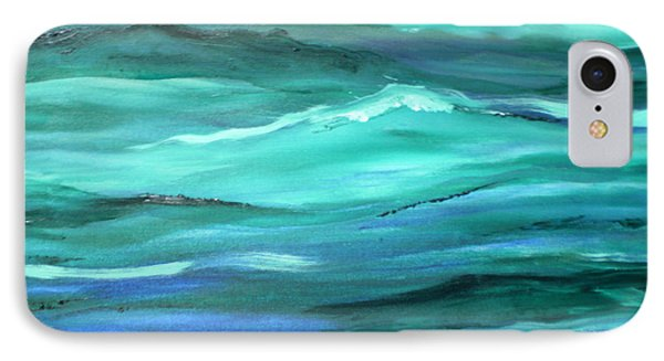 Ocean Swell Abstract Painting By V.kelly IPhone Case