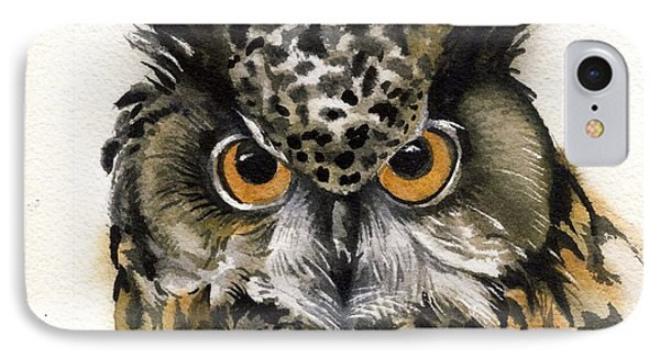 Owl Watercolor IPhone Case