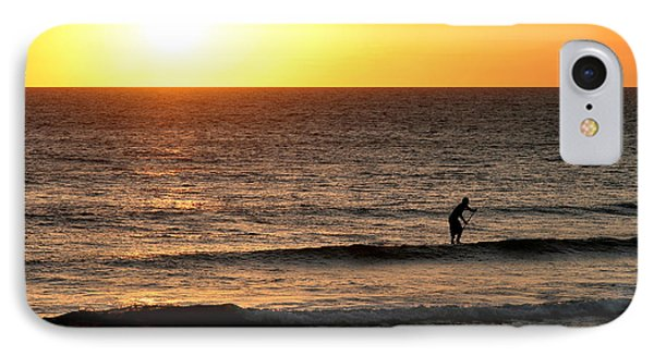 Paddle Board Surfer At Sunset IPhone Case