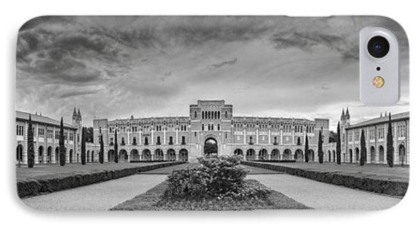 Panorama Of Rice University Academic Quad Black And White - Houston Texas IPhone Case