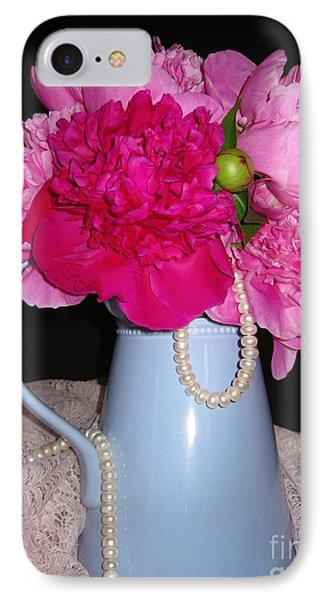Peonies Pearls And Lace IPhone Case