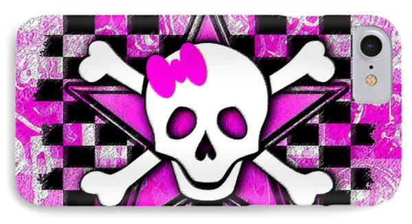 Pink Star Skull IPhone Case
