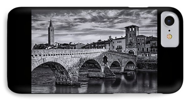 Ponte Pietra Verona In Black And White  IPhone Case