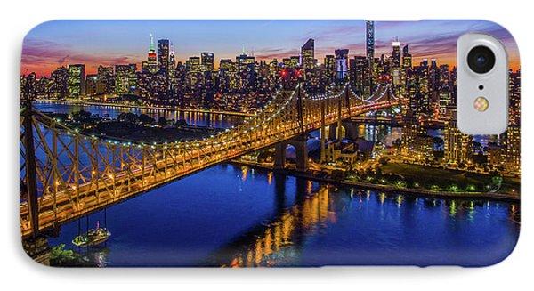 Queensboro Bridge At Dusk, Midtown IPhone Case