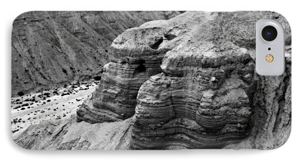 Qumran Cave 4 Bw IPhone Case