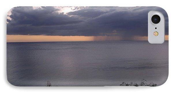 Rain On The Ocean IPhone Case