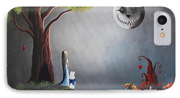 Castle iPhone 8 Case - Alice In Wonderland Original Artwork by Shawna Erback
