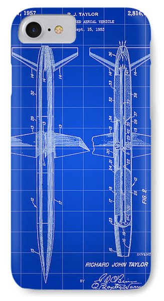 Rocket Patent 1953 - Blue IPhone Case