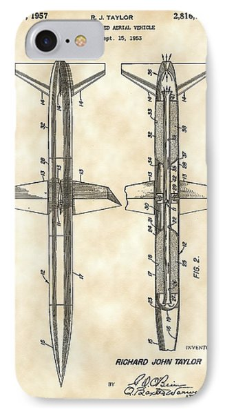 Rocket Patent 1953 - Vintage IPhone Case