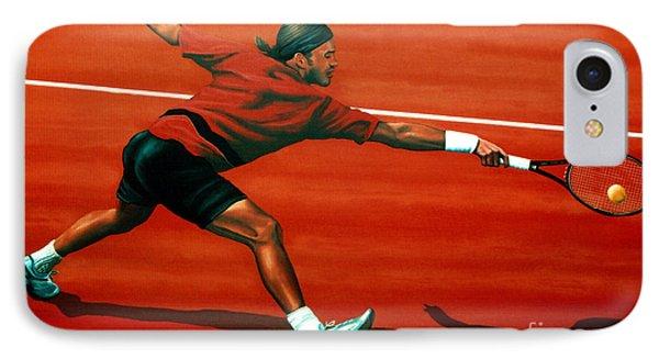Roger Federer At Roland Garros IPhone Case