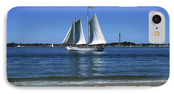 Sailboat In Ocean, Provincetown, Cape IPhone Case