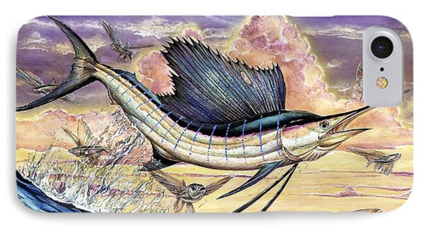 Sailfish And Flying Fish In The Sunset IPhone Case