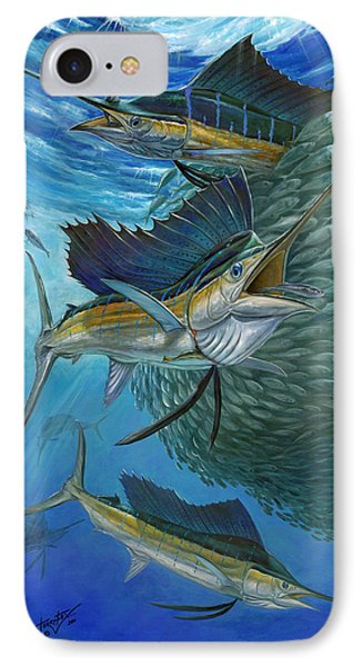 Sailfish With A Ball Of Bait IPhone Case