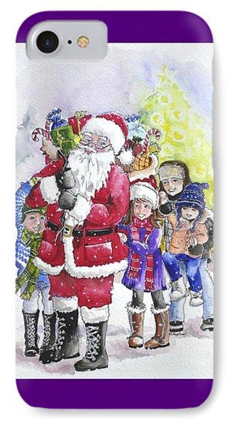Santa And Children IPhone Case