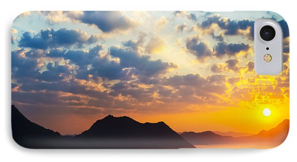 Sea Of Clouds On Sunrise With Ray Lighting IPhone Case