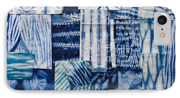 Shibori Patchwork Indigo IPhone Case