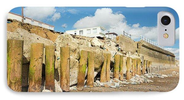 Smashed Concrete Sea Defences IPhone Case