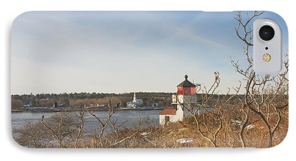 Squirrel Point Lighthouse Kennebec River Maine IPhone Case