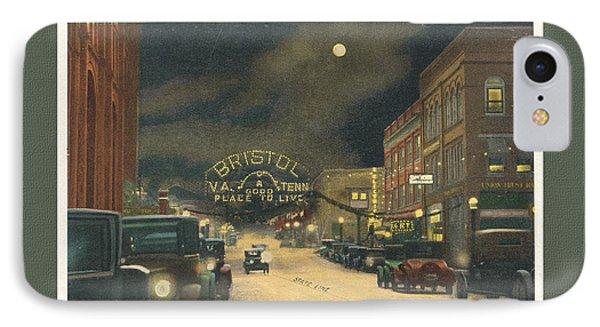 State Street Bristol Va Tn 1920's - 30's IPhone Case
