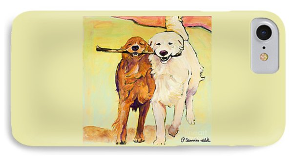 Dog iPhone 8 Case - Stick With Me by Pat Saunders-White