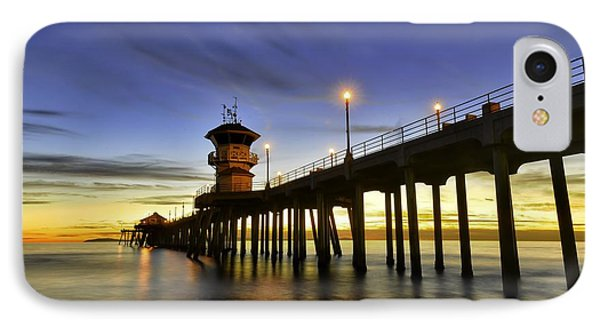 Sunset At Huntington Beach Pier  IPhone Case