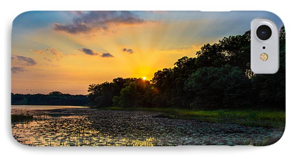 Sunset On Lake Masterman IPhone Case