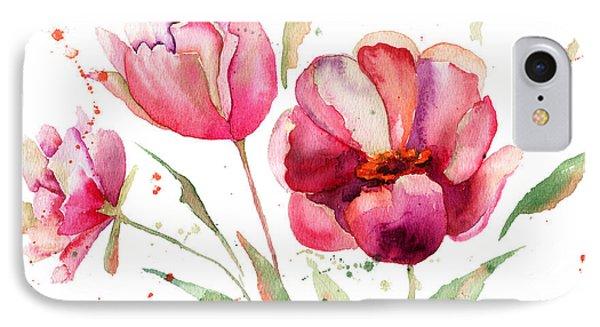Three Tulips Flowers  IPhone Case