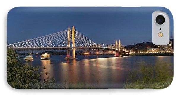 Tilikum Crossing Bridge At Night IPhone Case