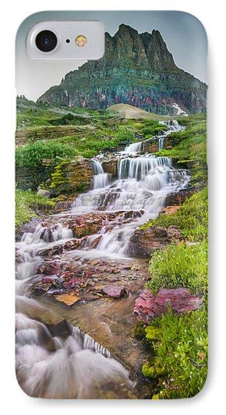 Triple Falls Stream Glacier National Park IPhone Case
